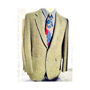Vintage George Brown 1981 Tweed Handwoven Blazer